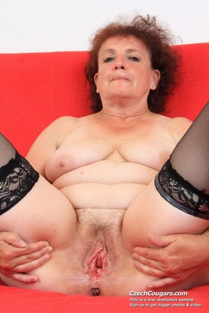 Horny grandma feeling naughty licks her tits, opens pussy and then sticks in dildo - XXXonXXX - Pic 8