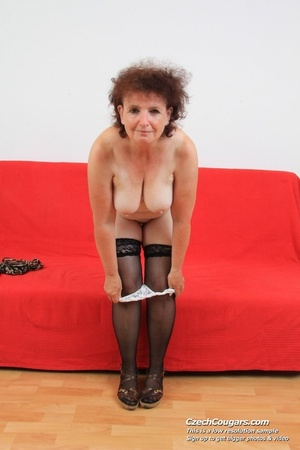 Horny grandma feeling naughty licks her tits, opens pussy and then sticks in dildo - XXXonXXX - Pic 13
