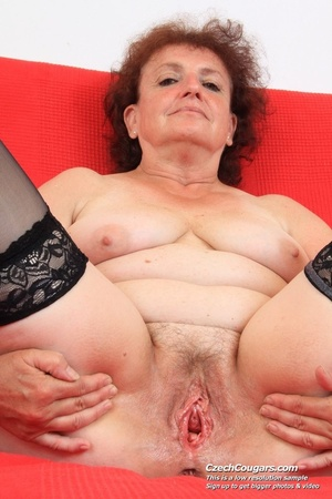 Horny grandma feeling naughty licks her tits, opens pussy and then sticks in dildo - XXXonXXX - Pic 14
