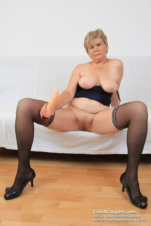 Slutty grandma with big tits feeling naughty opens and masturbates with sex toy - XXXonXXX - Pic 8