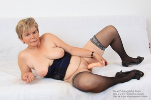 Slutty grandma with big tits feeling naughty opens and masturbates with sex toy - XXXonXXX - Pic 15