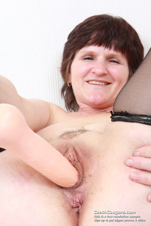Cute plump mommy go wild and show pussy and tits while playing with dildo - XXXonXXX - Pic 7