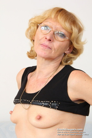 Matured mama show tits and pussy before masturbating with big dildo and fingers - XXXonXXX - Pic 9