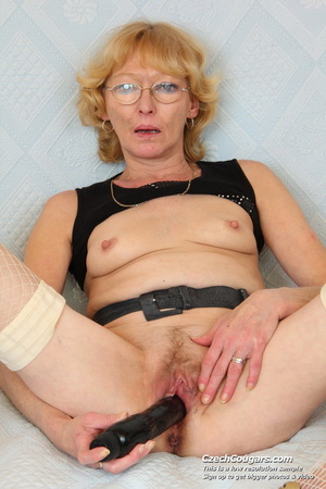 Matured mama show tits and pussy before masturbating with big dildo and fingers - XXXonXXX - Pic 11