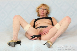 Matured mama show tits and pussy before masturbating with big dildo and fingers - XXXonXXX - Pic 12