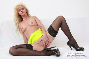 Sexy blonde mom shows pussy and tits before using fingers and dildo on herself - XXXonXXX - Pic 12