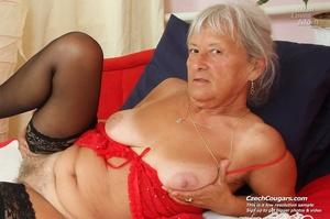 Slutty grandma feeling horny moans as she uses long dildo to masturbate pussy - XXXonXXX - Pic 2