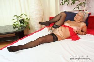 Slutty grandma feeling horny moans as she uses long dildo to masturbate pussy - XXXonXXX - Pic 6