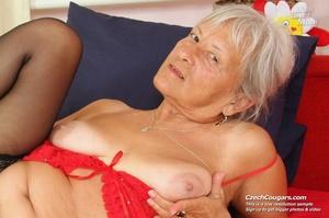 Slutty grandma feeling horny moans as she uses long dildo to masturbate pussy - XXXonXXX - Pic 7
