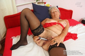 Slutty grandma feeling horny moans as she uses long dildo to masturbate pussy - XXXonXXX - Pic 12