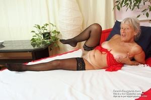 Slutty grandma feeling horny moans as she uses long dildo to masturbate pussy - XXXonXXX - Pic 13