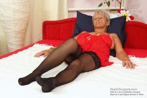 Slutty grandma feeling horny moans as she uses long dildo to masturbate pussy - XXXonXXX - Pic 14