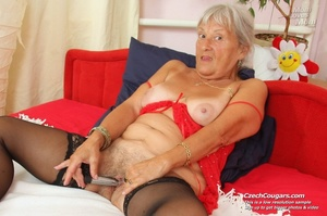 Slutty grandma feeling horny moans as she uses long dildo to masturbate pussy - XXXonXXX - Pic 15