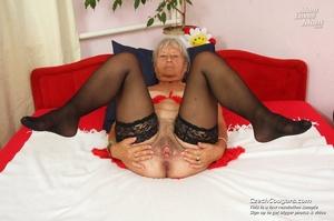 Slutty grandma feeling horny moans as she uses long dildo to masturbate pussy - XXXonXXX - Pic 16