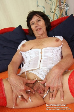 Bold and wild momma shoves in long dildo as she reveals pussy and cute tits - XXXonXXX - Pic 13