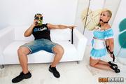 horny masked man humiliating