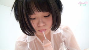 Slutty Asian teen sucks on flesh dildo as she pussy is teased swollen - XXXonXXX - Pic 7
