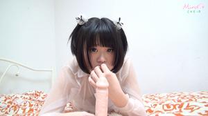 Slutty Asian teen sucks on flesh dildo as she pussy is teased swollen - XXXonXXX - Pic 8