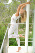 Adorable blondie gives her new vibe an outdoor…