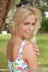 Blue eyed blondie gets steamy in tropical park