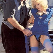 Classy eighties lady in blue stockings - XXX Dessert - Picture 1