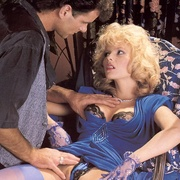 Classy eighties lady in blue stockings - XXX Dessert - Picture 2