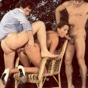 Eighties brunette receives two big - XXX Dessert - Picture 12