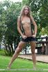 California hippie-girl exposes her swollen clit…