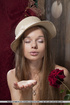 Young russian teenager plays dress-up with her…