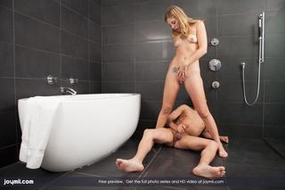 blonde shy teen gets