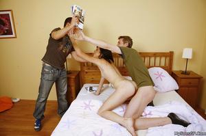 Horny teen getting her wet pussy ready for boyfriend's dad wildly. - XXXonXXX - Pic 15