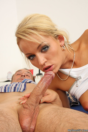 Son catches his father while pounding girlfriend's wet juicy pussy wildly. - XXXonXXX - Pic 3