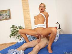 Son and dad fucking her dirty horny girlfriend - XXXonXXX - Pic 1