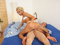 Son and dad fucking her dirty horny girlfriend - XXXonXXX - Pic 9