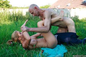 Gorgeous teen getting pleasured by boyfriend's horny dad. - XXXonXXX - Pic 11