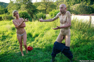 Gorgeous teen getting pleasured by boyfriend's horny dad. - XXXonXXX - Pic 16