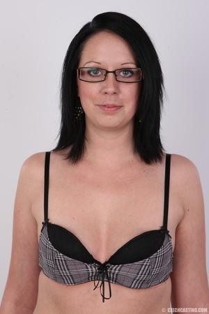 Sexy brunette chick in glasses happy to  - XXX Dessert - Picture 5