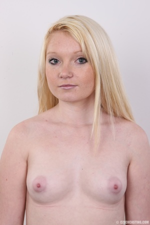 Longhaired blonde strips to show off her - XXX Dessert - Picture 10