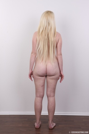 Longhaired blonde strips to show off her - XXX Dessert - Picture 16