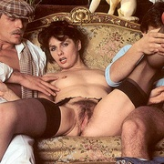 Hairy seventies lady pleasing two cocks - XXX Dessert - Picture 3