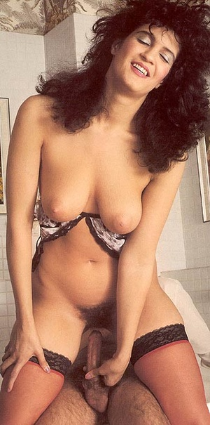 Hairy seventies lady in stockings enjoys - XXX Dessert - Picture 9