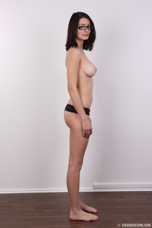 Innocent looking brunette with glass sho - XXX Dessert - Picture 9