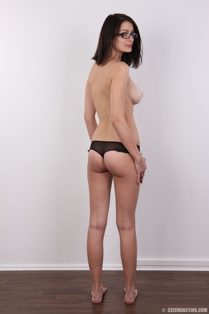 Innocent looking brunette with glass sho - XXX Dessert - Picture 11
