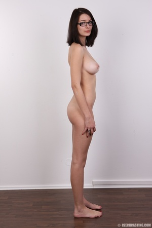 Innocent looking brunette with glass sho - XXX Dessert - Picture 16