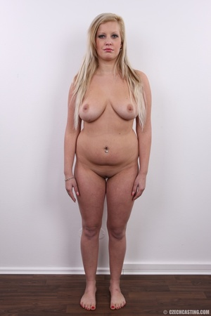 Chubby brunette with turn on eyes strip  - XXX Dessert - Picture 14