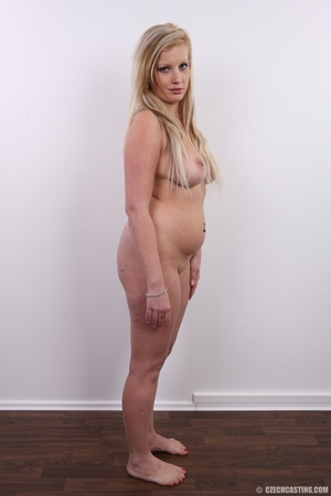 Chubby brunette with turn on eyes strip  - XXX Dessert - Picture 15