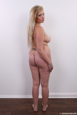 Chubby brunette with turn on eyes strip  - XXX Dessert - Picture 17