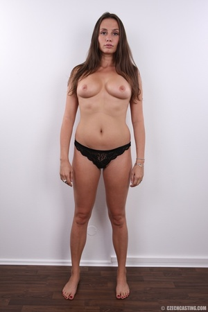 Hot bodied fleshy brunette with cute rou - XXX Dessert - Picture 9