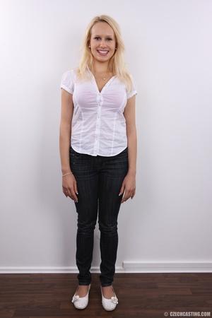 Erotic smiling blonde with super excitin - XXX Dessert - Picture 2