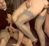 Horny seventies priest boning two wet and hairy…
